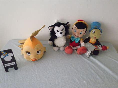 Pinocchio plush Jiminy Cricket, Figaro and Cleo by ...