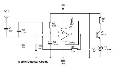 Mobile Phone Detector Circuit Diagram Cell