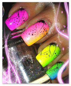 1000 images about Neon Nail Art on Pinterest