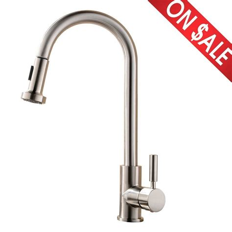 restaurant kitchen faucets single handle pull kitchen bar sink faucet stainless