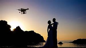 camera in the sky using drones in wedding photography and With drone wedding video