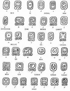 Maya Tzolk'in (260-day) calendar glyphs from inscriptions ...