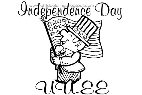 independence day coloring child coloring