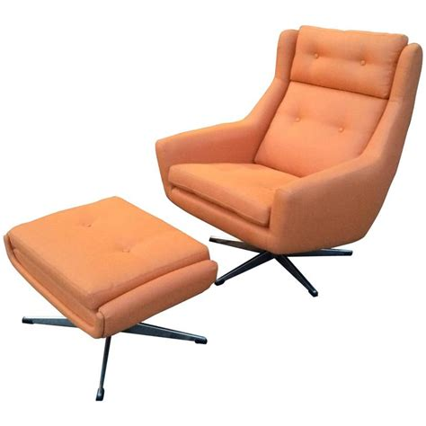 mid century modern lounge chair and ottoman attributed to