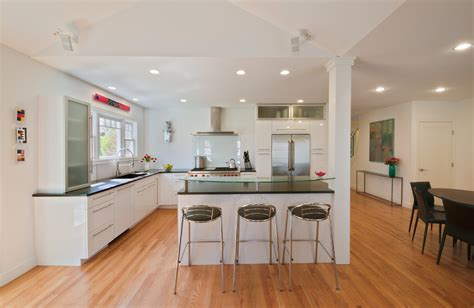 Upper Kitchen Cabinet Ideas - kitchen island with columns kitchen contemporary with sloped ceiling open kitchen czmcam org