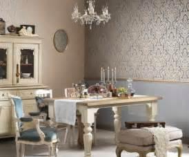 salle a manger baroque idee deco papier peint pour salle a manger palzon