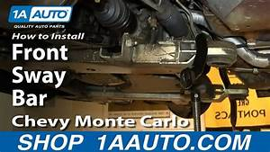 How To Install Replace Front Sway Bar 2000