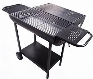 Prix D Un Barbecue : barbecue double foyer charbon de bois bunker ~ Premium-room.com Idées de Décoration