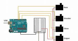 3d Printed Robot  Wiring Diagram  Arduino 3dof Arm