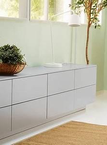 Ikea Veddinge Grau : niedrige kombination mit schubladen und veddinge fronten in grau mit einer leuchte und einer ~ Orissabook.com Haus und Dekorationen