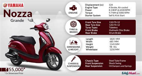 yamaha nozza grande price india specifications reviews sagmart