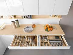 Space Saving Kitchen Design Contemporary Italian Kitchen Offers Functional Storage Solutions