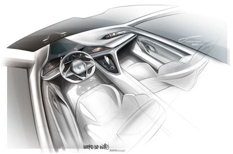 bmw vision future luxury concept interior design sketch