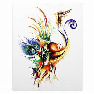 Creative Abstract of Lord Krishna Photo Plaques sri