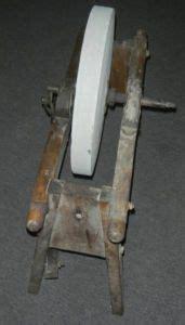antique vintage tool foot powered sharpening grinding