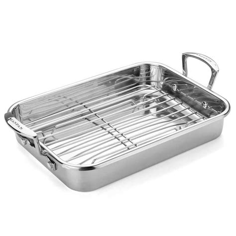 Small Pan Rack by Scanpan Impact Roasting Pan With Rack Large 42cm X 31cm