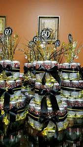 60th, Birthday, Beer, Cake, Tower, Centerpieces, 60thbirthday
