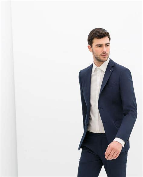 zara homme costume bleu encre mariage et nicolas 2015 blue blue - Zara Mariage