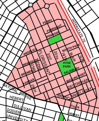 Built St. Louis: The North Side | Hyde Park - street map