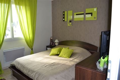 chambre vert anis déco chambre vert anis et taupe