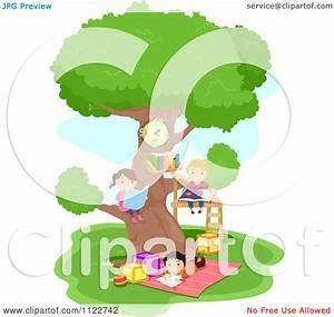 Children Reading Under Tree Clipart (43+)