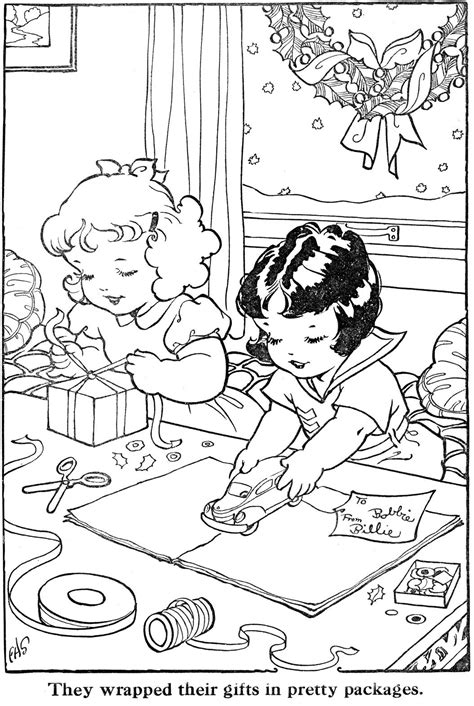 Coloring Xms Gift Wrap by Coloring Page S Gift Wrap 1500 Free Paper Dolls Toys
