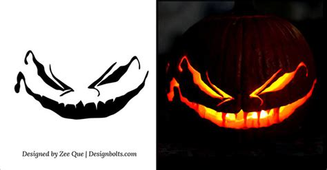 scary pumpkin templates 10 free scary pumpkin carving patterns stencils ideas 2014