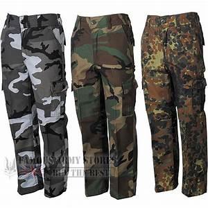 Kids US BDU Camo Combat Cargo Work Trousers Military Army ...