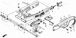 Honda Motorcycle 1988 Oem Parts Diagram For Swingarm