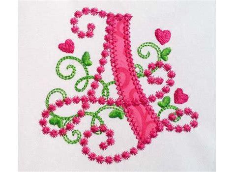 letter  applique machine embroidery design monogram initials