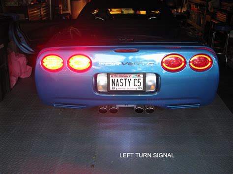 c5 corvette tail lights f s 1997 2004 c5 corvette modified halo led tail lights