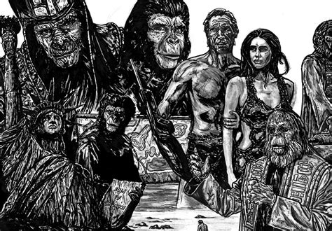 Planet Of The Apes By Fdupain On Deviantart