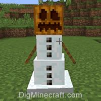 snow man  minecraft