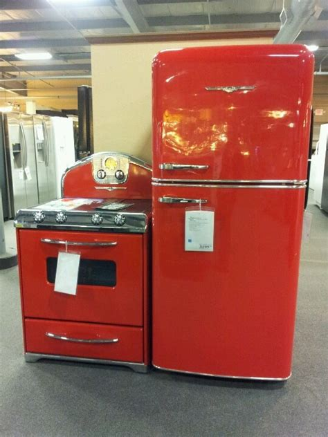 love   fridge  stove red refrigerator red