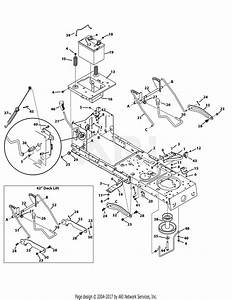 Troy Bilt 13wm77ks011 Pony  2014  Parts Diagram For Frame  Pto  U0026 Lift