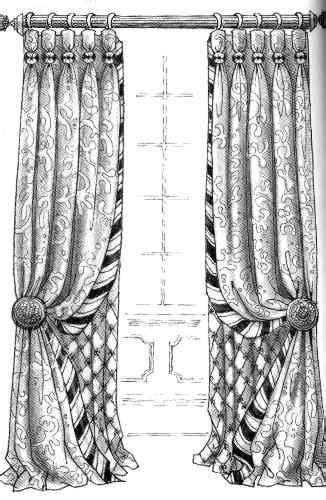 Curtains with undercurtains and decorative edge | Decor