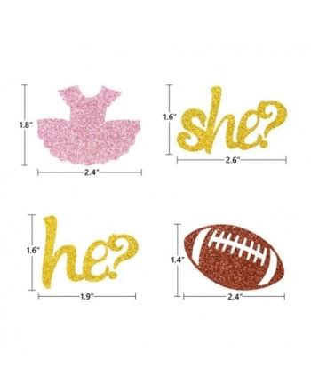 tutus  touchdowns gender reveal cupcake toppers  pack