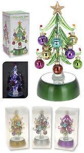 mini led light up tree glass tree with 12 glass baubles ebay