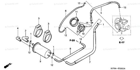 Honda Scooter Oem Parts Diagram For Evap Canister