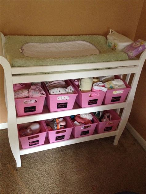 Diaper Changing Table Infant Baby Diaper Station Nursery