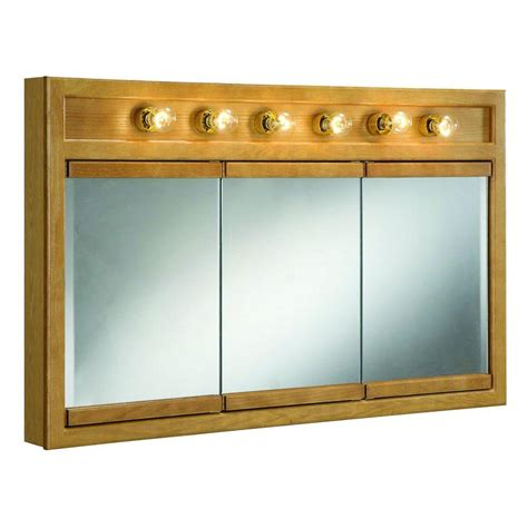 home depot medicine cabinets with lights design house richland 48 in w x 30 in h x 5 in d framed