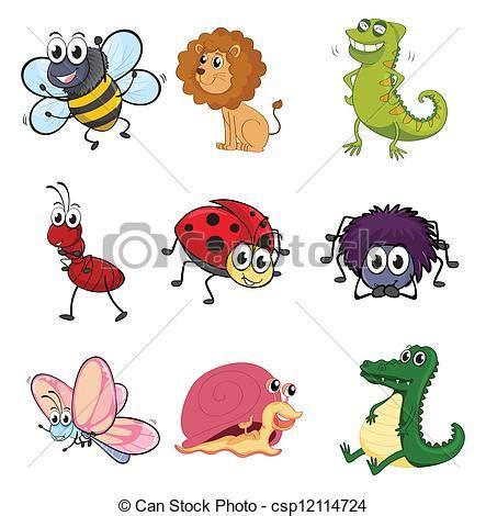 clipart animali illustrazioni vettoriali di insetti vario animali