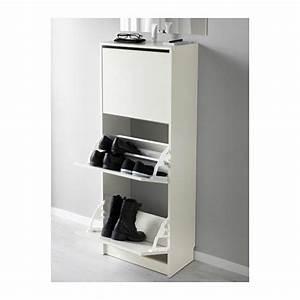 Casier A Chaussure : bissa armoire chaussures 3 casiers blanc hall lot 322 ~ Nature-et-papiers.com Idées de Décoration