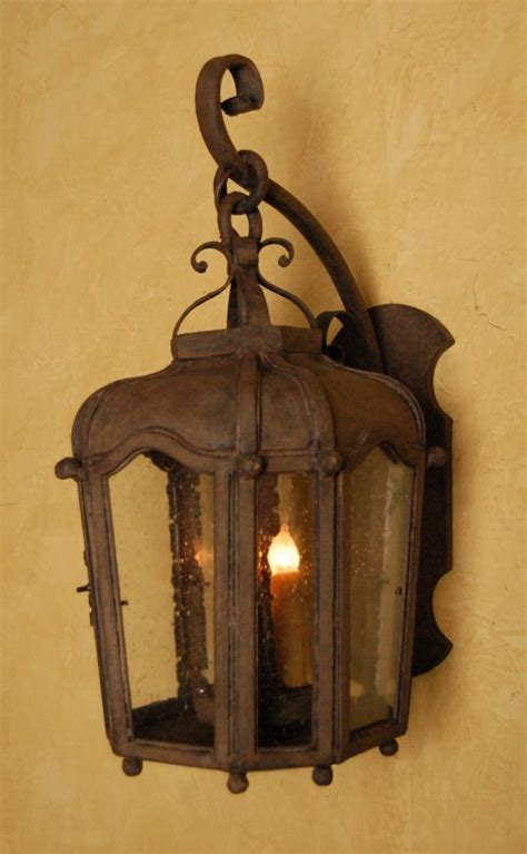 Wrought Iron Outdoor Lantern perfect for a Spanish style