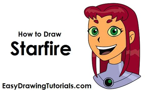 How To Draw Starfire (teen Titans