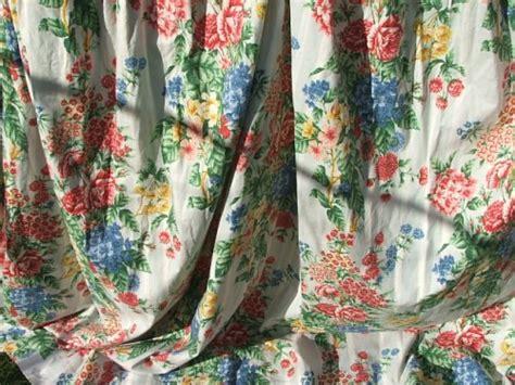 Pretty Vintage Floral Curtains