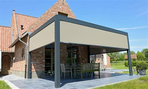 louvered pergola rolltec retractable awnings toronto ontario canada