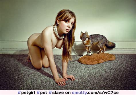 Petgirl Pet Slave Slavegirl Collar Collared Leash Leashed Allfours Nude Naked