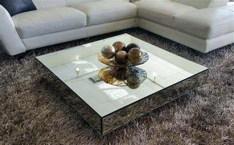 living room furniture sets square mirrored contemporary coffee table modern coffee