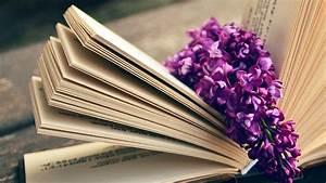 ni24-book-read-time-flower-flare-purple-wallpaper